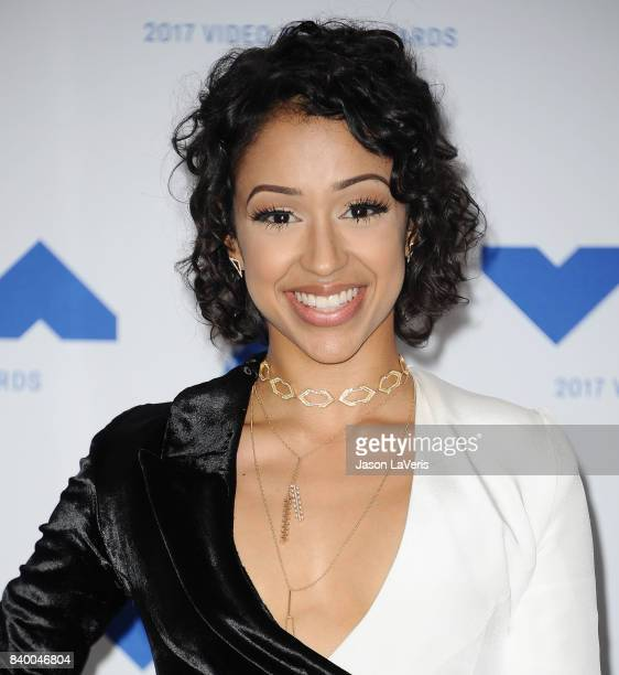 Liza Koshy poses in the press room at the 2017 MTV Video Music Awards at The Forum on August 27 2017 in Inglewood California