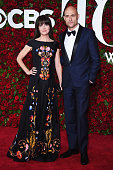 Liza Marshall and Mark Strong attend the 70th Annual Tony Awards at The Beacon Theatre on June 12 2016 in New York City