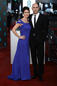Liza Marshall and Mark Strong attend the EE British Academy Film Awards at The Royal Opera House on February 10 2013 in London England