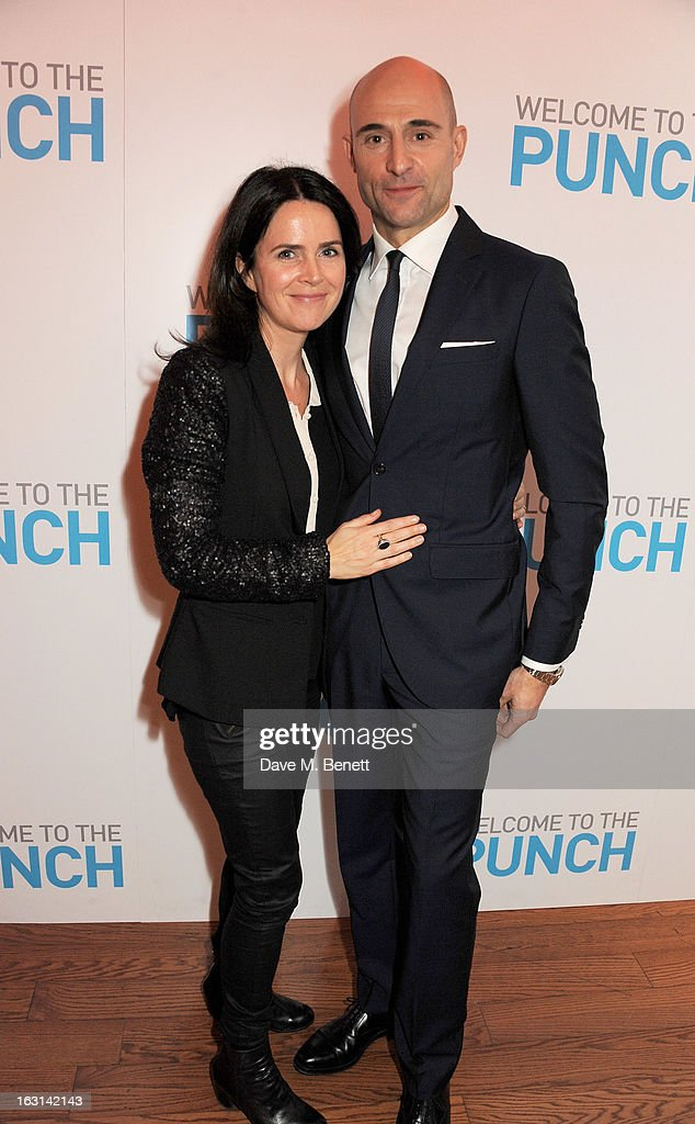 Liza Marshall (L) and Mark Strong attend the UK Premiere of 'Welcome To The Punch' at the Vue West End on March 5, 2013 in London, England.