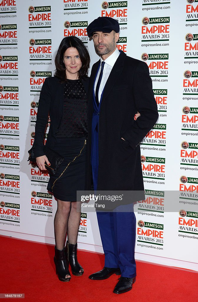 Liza Marshall and Mark Strong attends the 18th Jameson Empire Film Awards at Grosvenor House, on March 24, 2013 in London, England.