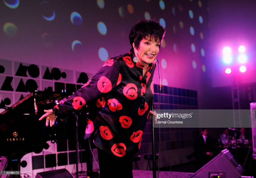 Liza Minelli performs on stage during the 2nd Annual amfAR Inspiration Gala at The Museum of Modern Art on June 14, 2011 in New York City.