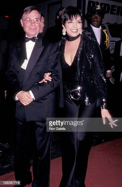 Liza Minnelli and date during Sardi's Restaurant 50th Annual Tony Awards at Majestic Theater in New York City NY United States