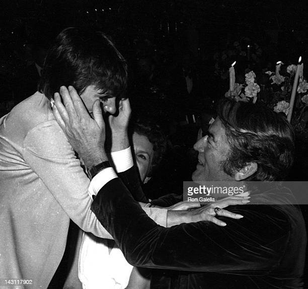 Liza Minnelli and Gregory Peck attend the party for 45th Annual Academy Awards on March 27 1973 at the Bistro Restaurant in Beverly Hills California
