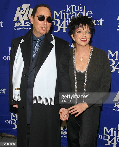 Liza Minnelli and husband David Gest during KTU's 'Miracle on 34th Street' at Madison Square Garden in New York City New York United States