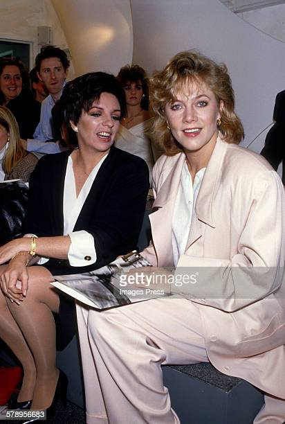 Liza Minnelli and Kathleen Turner circa 1987 in New York City