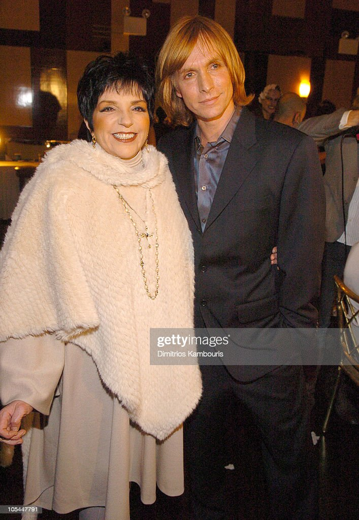 Liza Minnelli and Marc Bouwer during Olympus Fashion Week Fall 2005 Marc Bouwer Front Row and Backstage at Cipriani's Fifth Avenue in New York City...
