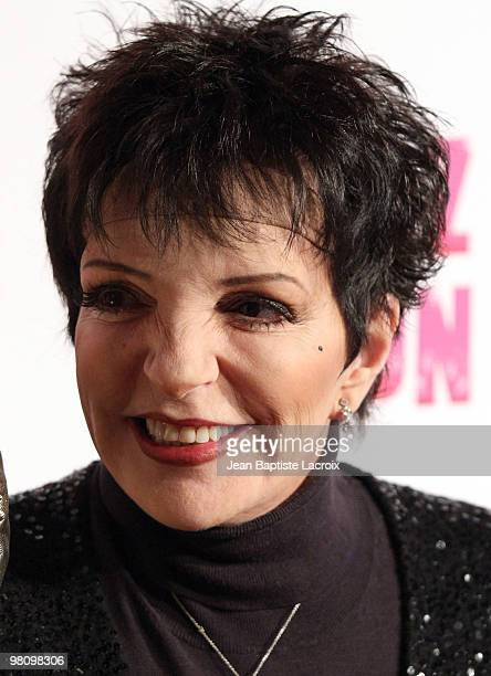 Liza Minnelli attends Perez Hilton's 'CarnEvil' Theatrical Freak and Funk 32nd birthday party at Paramount Studios on March 27 2010 in Los Angeles...
