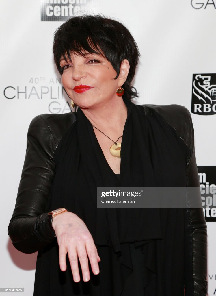 <a gi-track='captionPersonalityLinkClicked' href=/galleries/search?phrase=Liza+Minnelli&family=editorial&specificpeople=121547 ng-click='$event.stopPropagation()'>Liza Minnelli</a> attends the 40th Anniversary Chaplin Award Gala at Avery Fisher Hall at Lincoln Center for the Performing Arts on April 22, 2013 in New York City.