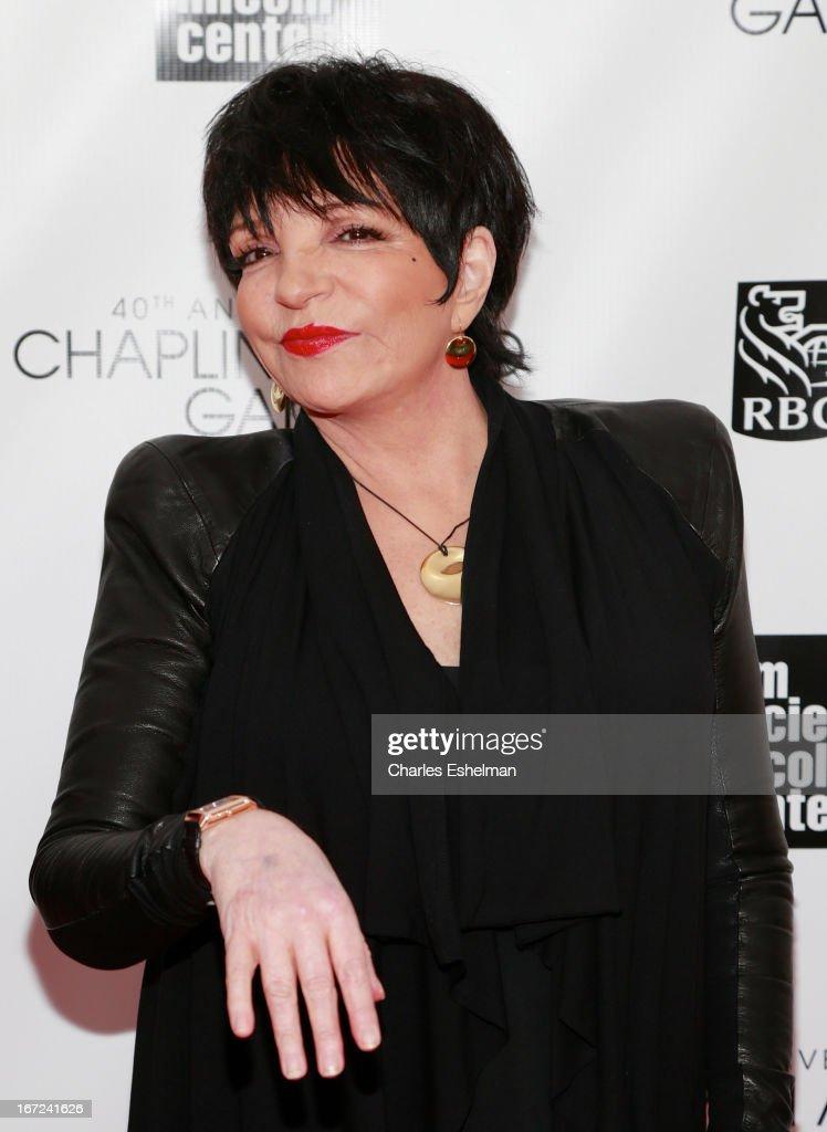 Liza Minnelli attends the 40th Anniversary Chaplin Award Gala at Avery ...