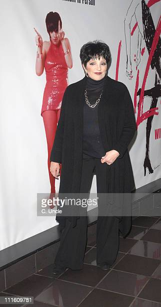 Liza Minnelli during 'Liza with a Z' Charity Screening Arrivals at Vue Leicester Square in London Great Britain
