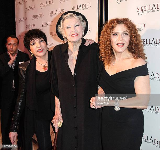 Liza Minnelli Elaine Stritch and Bernadette Peters attend the 8th Annual Stella By Starlight Benefit Gala at Espace on June 10 2013 in New YorkCity