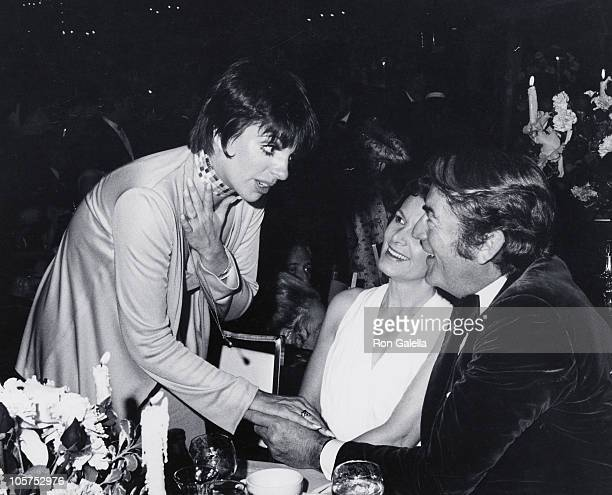 Liza Minnelli guest and Gregory Peck during 45th Annual Academy Awards Governors Ball at Beverly Hilton Hotel in Beverly Hills California United...