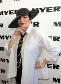 Liza Minnelli in the Myer marquee during the AAMI Victoria Derby Day at Flemington Racecourse on October 31 2009 in Melbourne Australia