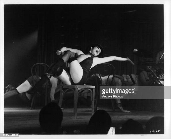 Liza Minnelli performing on stage in a scene from the film 'Cabaret' 1972
