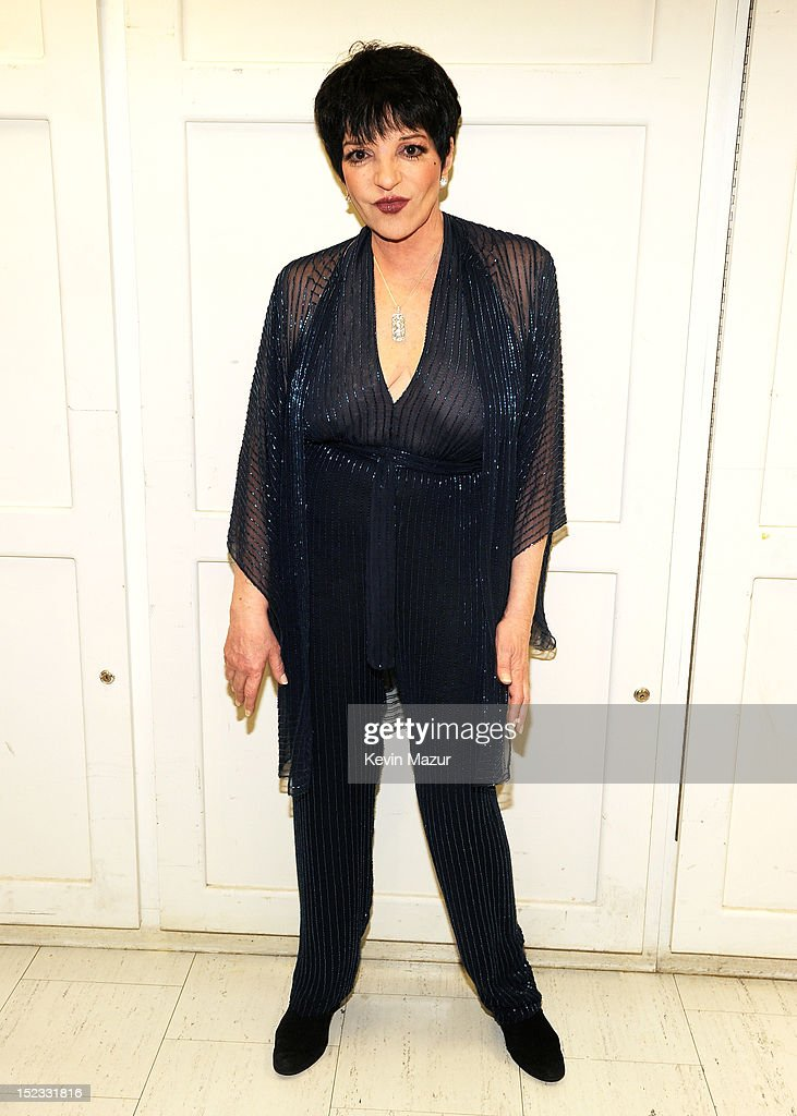 <a gi-track='captionPersonalityLinkClicked' href=/galleries/search?phrase=Liza+Minnelli&family=editorial&specificpeople=121547 ng-click='$event.stopPropagation()'>Liza Minnelli</a> poses backstage at the memorial of Marvin Hamlisch at Peter Jay Sharp Theater on September 18, 2012 in New York City.