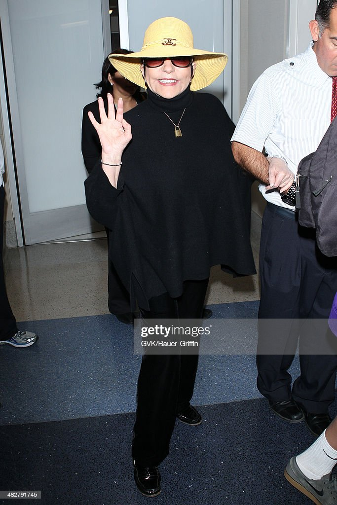 Liza Minnelli seen at LAX airport on April 04 2014 in Los Angeles California