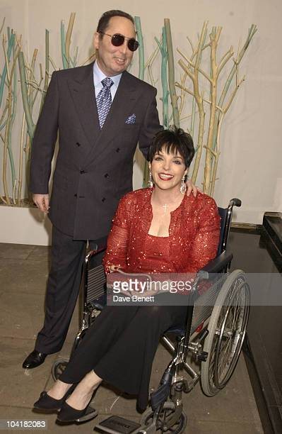 Liza Minnelli With Husband David Gest The Kids Charity Gala Evening At The Grosvenor House Arts And Antiques Fair Grosvenor House Hotel London