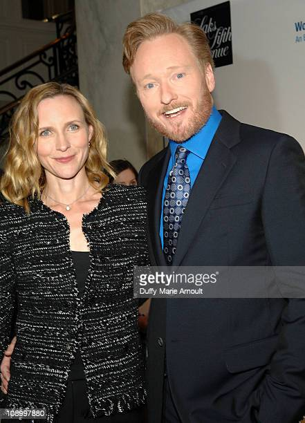 Liza Powel and Conan O'Brien attend An Unforgettable Evening Benefiting EIF's Women's Cancer Research Fund at the Beverly Wilshire Four Seasons Hotel...