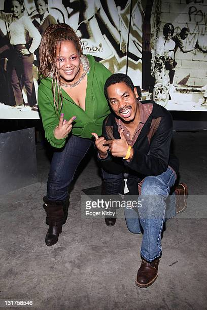 Liza Rios widow of Big Pun and Curtis Sherrod director of Hip hop Culture Center in Harlem attend a screening of 'Big Pun The Legacy' in the Magic...