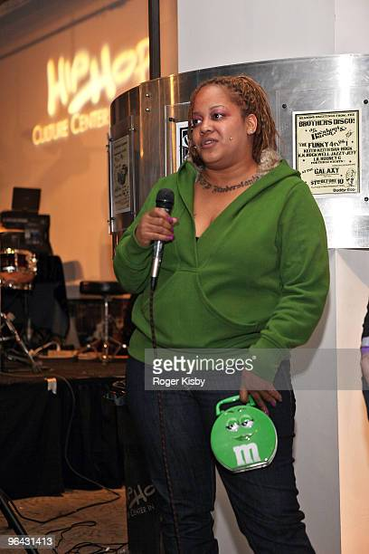 Liza Rios widow of Big Pun attends a screening of 'Big Pun The Legacy' in the Magic Johnson Theatre at the Hip Hop Culture Center on October 10 2009...