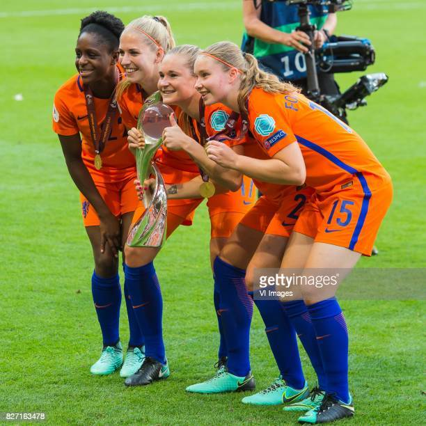 Liza van der Most of Holland Women Kelly Zeeman of Holland Women Desiree van Lunteren of Holland Women Sisca Folkertsma of Holland Women during the...