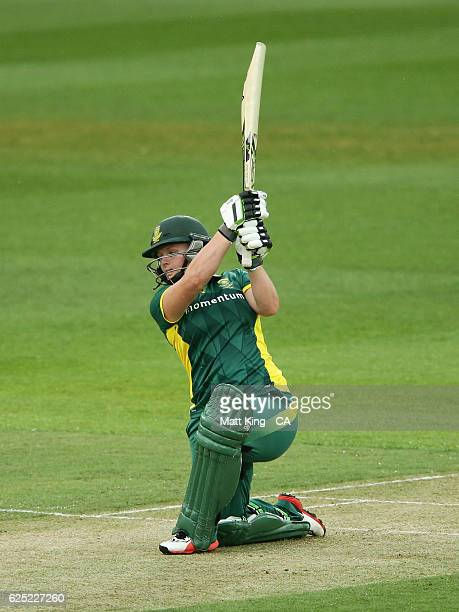 Lizelle Lee of South Africa bats during the women's One Day International match between the Australian Southern Stars and South Africa at North...