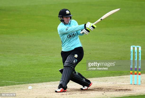 Lizelle Lee of Surrey bats during the Kia Super League match between Surrey Stars and Western Storm at The Kia Oval on August 23 2017 in London...