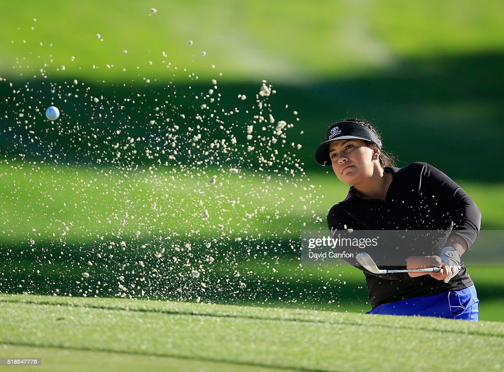 <a gi-track='captionPersonalityLinkClicked' href=/galleries/search?phrase=Lizette+Salas&family=editorial&specificpeople=7883974 ng-click='$event.stopPropagation()'>Lizette Salas</a> of the United States plays her third shot on the par 5, 11th hole during the second round of the 2016 ANA Inspiration at the Mission Hills Country Club on April 1, 2016 in Rancho Mirage, California.