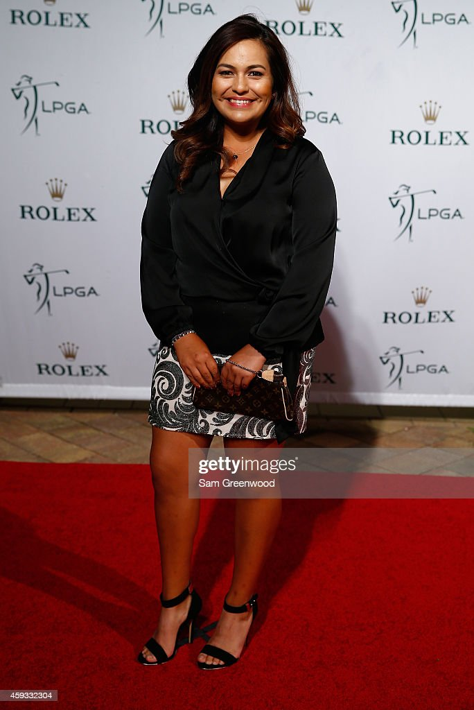<a gi-track='captionPersonalityLinkClicked' href=/galleries/search?phrase=Lizette+Salas&family=editorial&specificpeople=7883974 ng-click='$event.stopPropagation()'>Lizette Salas</a> poses on the red carpet during the Rolex Player Awards ceremony at the Ritz Carlton on November 20, 2014 in Naples, Florida.