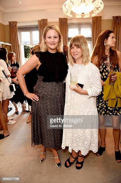 Lizz Matthews and Jess Christie attend a cocktail reception hosted by RACIL and MATCHESFASHIONCOM to celebrate the launch of Racil AW16 Collection on...