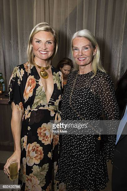 Lizzi Bickford and Betsy Berry attend AVENUE Celebrates Kara Ross and the Palm Beach A List at Meat Market Palm Beach on January 19 2017 in Palm...