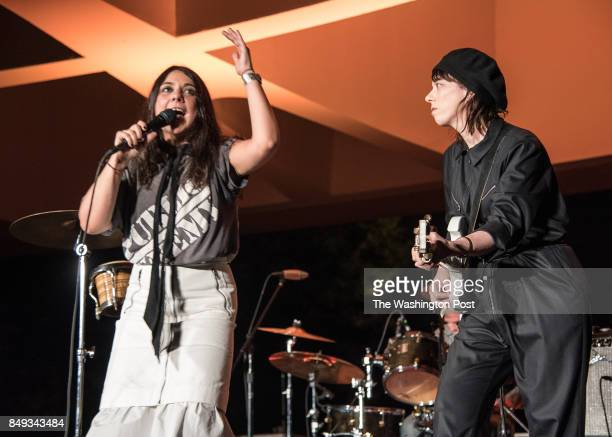 Lizzi Bougatsos performs at the Concert For Yoko Ono at the Hirshhorn