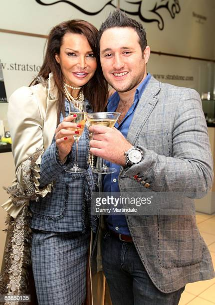 Lizzie Cundy and Antony Costa attend launch of the Jaguar 3XR at the Jaguar Show Room November 28 2008 in London England