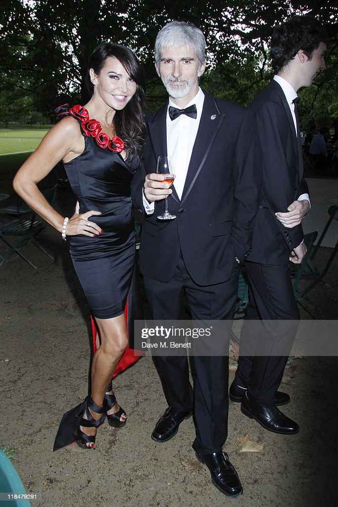 <a gi-track='captionPersonalityLinkClicked' href=/galleries/search?phrase=Lizzie+Cundy&family=editorial&specificpeople=4697352 ng-click='$event.stopPropagation()'>Lizzie Cundy</a> and <a gi-track='captionPersonalityLinkClicked' href=/galleries/search?phrase=Damon+Hill&family=editorial&specificpeople=195346 ng-click='$event.stopPropagation()'>Damon Hill</a> attend The Grand Prix Ball at The Hurlingham Club on July 7, 2011 in London, England.