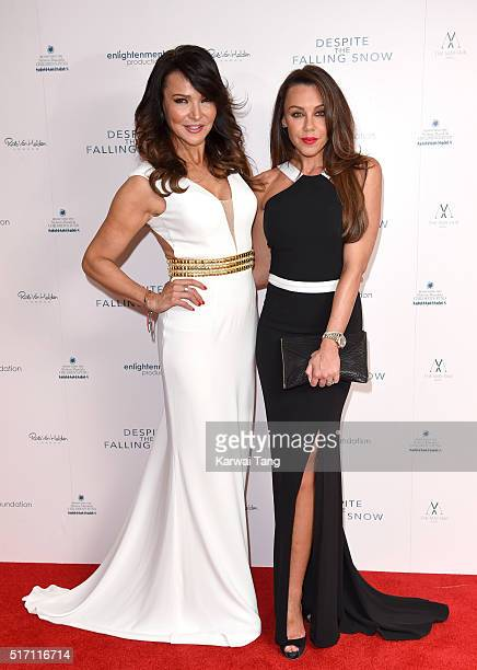 Lizzie Cundy and Michelle Heaton arrive for the gala screening of 'Despite The Falling Snow' on March 23 2016 in London United Kingdom