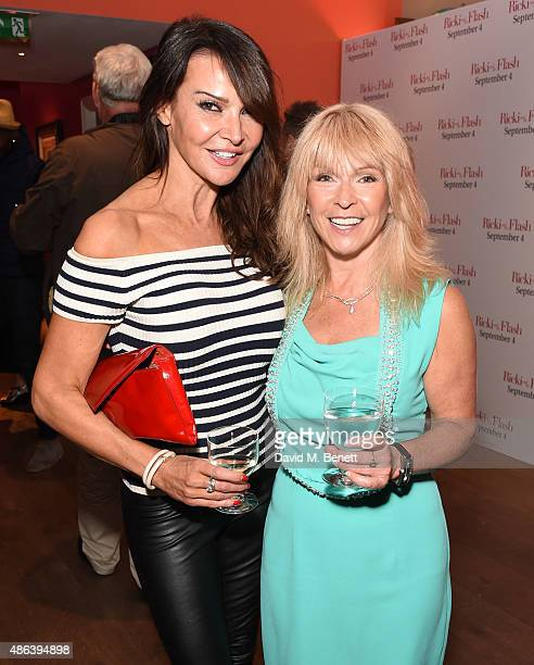Lizzie Cundy and Toya Wilcox attend the gala screening of 'Ricki And The Flash' at the Ham Yard Hotel on September 3 2015 in London England