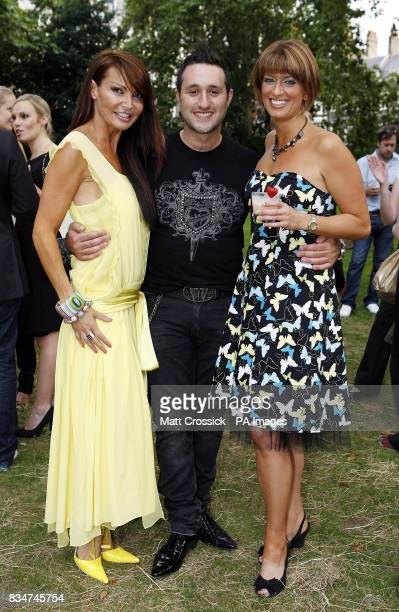 Lizzie Cundy Anthony Costa and Caroline Feraday attending the African Oasis party sponsored by Amarula Cream in Bedford Square London