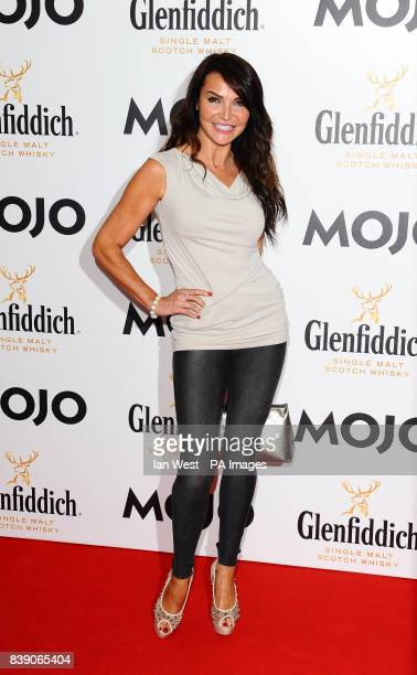 Lizzie Cundy arrives at the Mojo Awards at the Brewery in London
