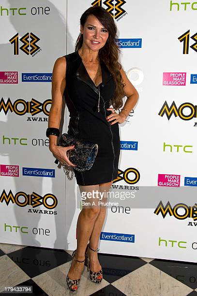 Lizzie Cundy arrives at the nominations launch for the MOBO Awards at Grand Connaught Rooms on September 3 2013 in London England