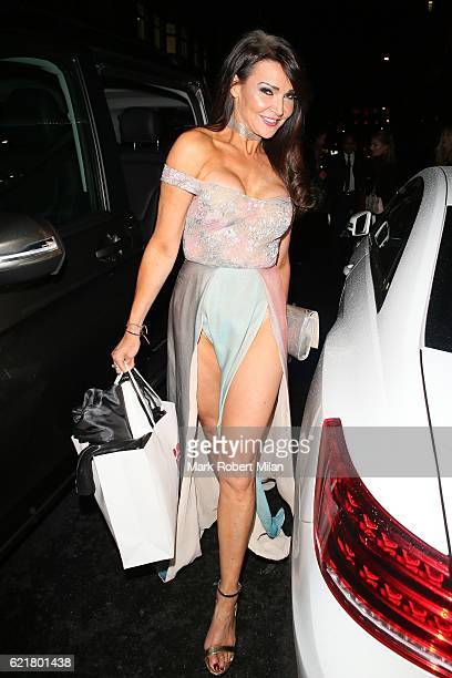Lizzie Cundy at the Palm Beach Casino on November 8 2016 in London England