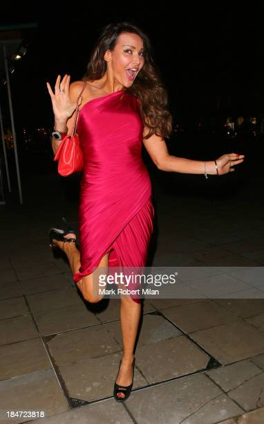 Lizzie Cundy attending the Candy Magazine autumn/winter 2013 Launch Party on October 15 2013 in London England