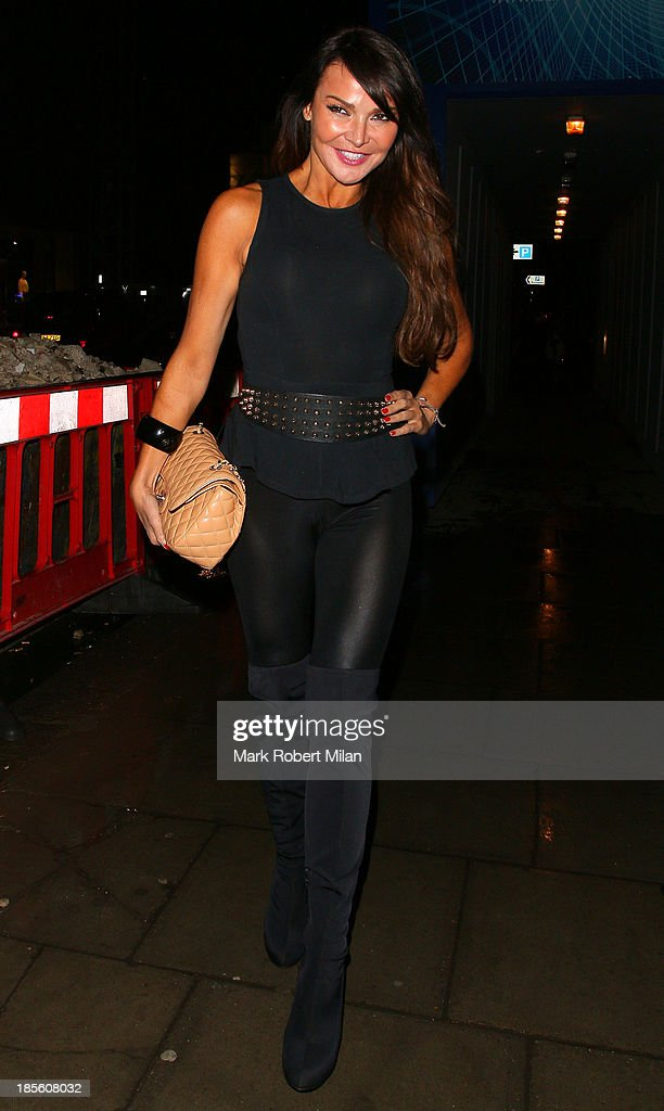 Lizzie Cundy attending the Claire's Accessories party on October 22, 2013 in London, England.