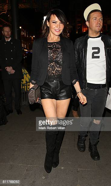 Lizzie Cundy attending the JF London a/w1617 presentation and party at the W hotel on February 22 2016 in London England