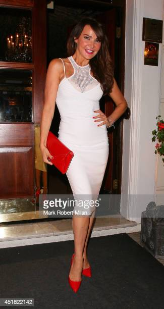 Lizzie Cundy attending the OK Magazine World Cup Summer BBQ on July 7 2014 in London England