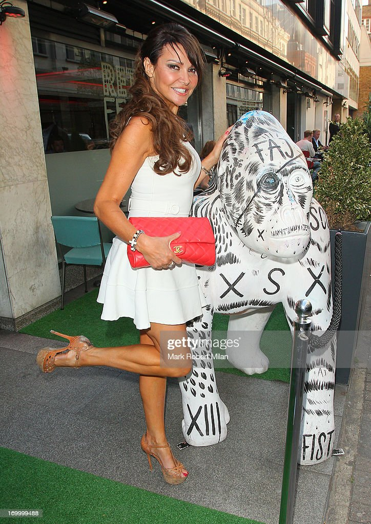 Lizzie Cundy attending the Retro Feasts launch party on June 5, 2013 in London, England.