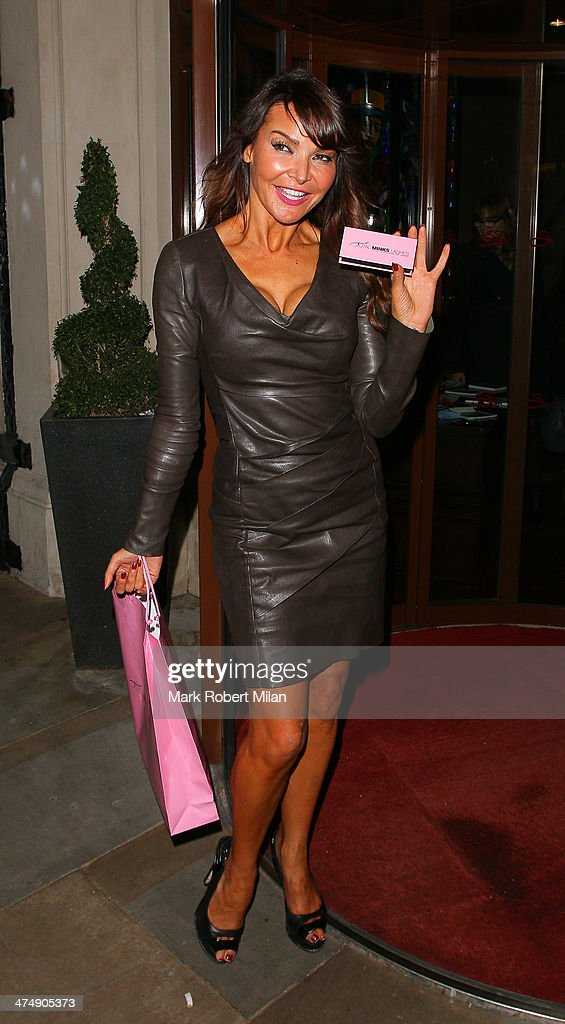 <a gi-track='captionPersonalityLinkClicked' href=/galleries/search?phrase=Lizzie+Cundy&family=editorial&specificpeople=4697352 ng-click='$event.stopPropagation()'>Lizzie Cundy</a> attending the Total Minx Launch Party on February 25, 2014 in London, England.