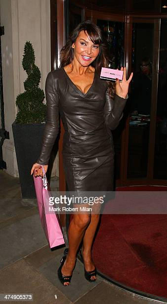 Lizzie Cundy attending the Total Minx Launch Party on February 25 2014 in London England
