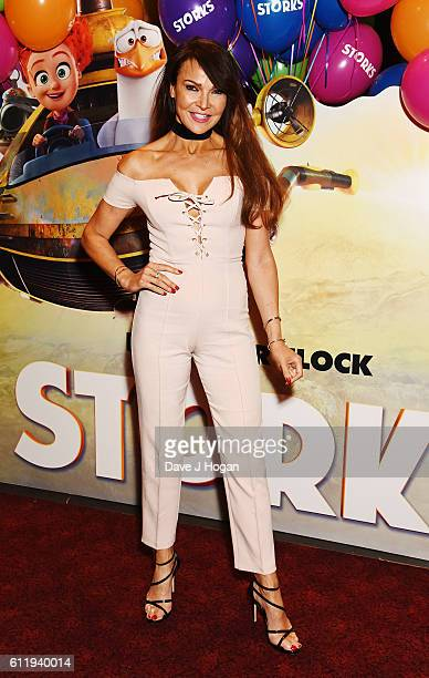 Lizzie Cundy attends a multimedia screening of 'Storks' at Cineworld Leicester Square on October 2 2016 in London England