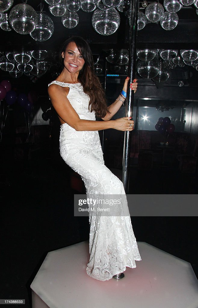 <a gi-track='captionPersonalityLinkClicked' href=/galleries/search?phrase=Lizzie+Cundy&family=editorial&specificpeople=4697352 ng-click='$event.stopPropagation()'>Lizzie Cundy</a> attends an after party at the Freedom Bar, Wardour street following the press night performance of 'Wag The Musical' on July 24, 2013 in London, England.